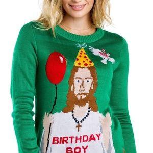 Tipsy Elves - Happy Birthday Jesus Sweater (W) - S